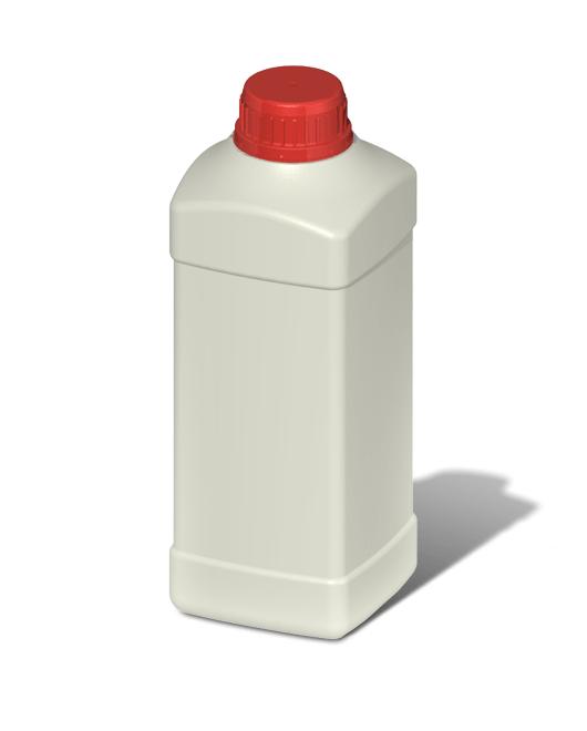 Бутылка пластиковая 1 л квадратная