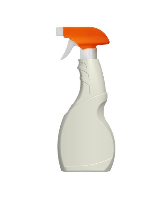 Бутылка пластиковая с триггером распылителем 500 мл вид сбоку