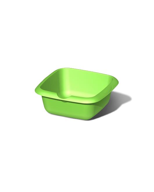 Таз пластиковый пищевой квадратный 5 литров