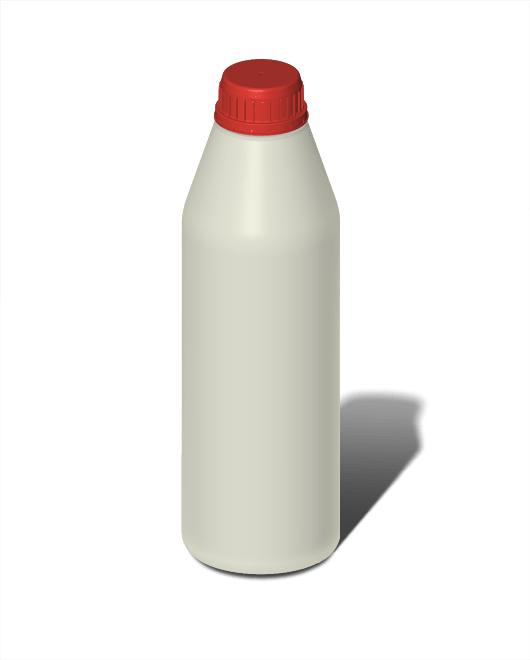 Бутылка пластиковая 1 л круглая