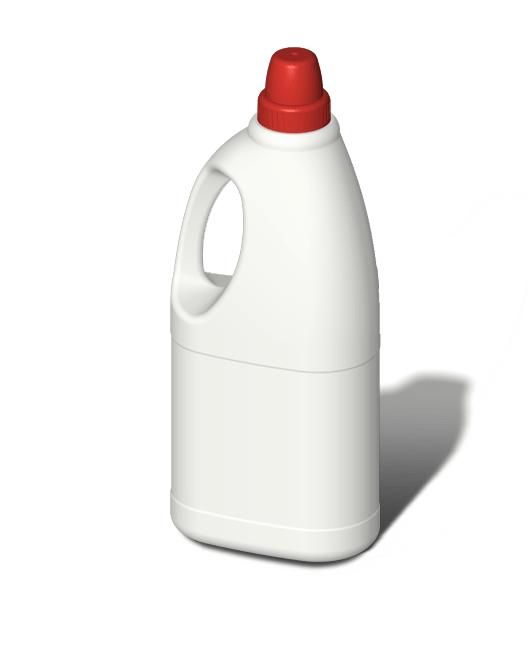 Бутылка пластиковая с ручкой и с мерным колпачком 1,5 л