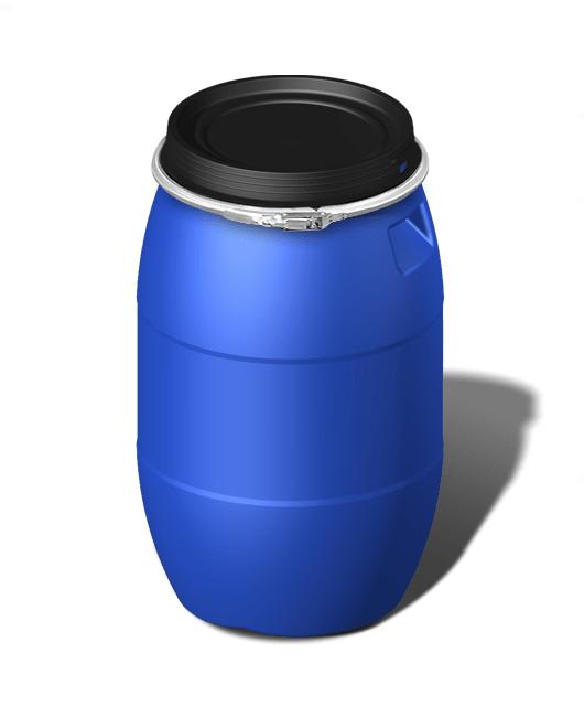 Бочка пластиковая с крышкой, с обручем 120 литров
